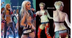 Chrisina-Aguilera-Tirukan-Ekspresi-Miley-Cyrus