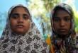 Dua dari 43 orang imigran etnis Rohingya saat tiba dipenampungan sementara Wisma Keluarga, Jalan Medan - Binjai KM 12.7, Senin (17/5). sebanyak 43 orang imigran etnis Rohingya  dipindahkan dari penampungan sementara Pangkalan Susu ke Wisma Keluarga dibawah pengawasan kantor imigrasi kelas I khusus Medan. (WOL Photo/Ega Ibra)
