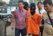 Timsus Reskrim Polsek Medan Baru memboyong dua tersangka begal/WOL Photo/Gacok