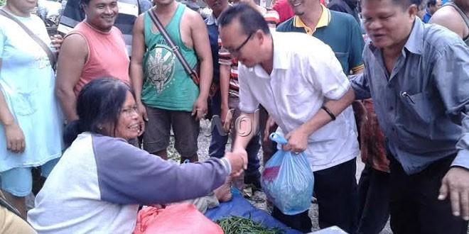 Serap Aspirasi Pedagang, Ramadhan Pohan Sambangi Pasar Sutomo