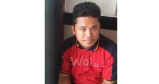 Karyawan Alfamart, Amarta Lim membuat laporan pengaduan ke Polsekta Medan Sunggal.(WOL Photo/gacok)