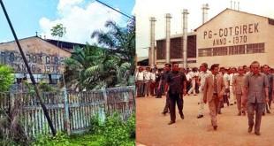 Pabrik Gula Cot Girek saat diresmikan Presiden Soeharto pada Mei 1970. Kini pabrik gula ini tidak beroperasi lagi dan sudah menjadi bangkai. (WOL Photo/Chairul sya'ban)