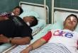 Ketiga wartawan Online korban penembakan di lokasi Kampung Kampung Kubur (markas narkoba), kini sedang menjalani perawatan intensif di RS bhayangkara Polda Sumut Jalan KH Wahid Hasyim Medan. (WOL Photo/gacok)