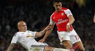 Arsenal menang 3-0 atas Swansea City (Foto: AFP)