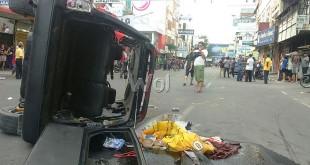 Suasana kawasan Jalan Thamrin pascabentrok PP dan IPK, Sabtu (30/1). WOL Photo