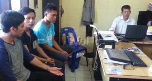 Lima dari tujuh tersangka begal yang membunuh anggota Brimob, Briptu Marisi Robert Parulian Silaen, dibekuk.(WOL Photo/Gacok)