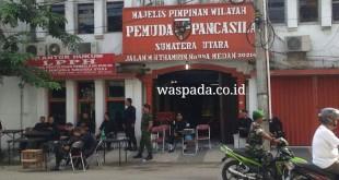 Penjagaan Ketat di Kantor  MPW PP, Jalan Thamrin, Medan (WOL/Eko)
