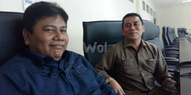 Wakil Ketua Komisi C DPRD Medan, Anton Panggabean (kiri). (WOL Photo/M Rizki)