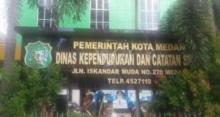 Kantor Disdukcapil Medan (WOL Photo)