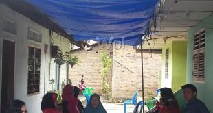 Suasana duka masih menyelimuti rumah duka Jalan Gelatik, Lingkungan II, Gang Keluarga, Kelurahan Sei Sikambing B, Kecamatan Medan Sunggal.(WOL. Photo/gacok)