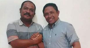 Ketua Forum Masyarakat Sipil Aceh Selatan untuk Alabas (FORMASI) Ali Zamzami dan Rafli, anggota DPD RI asal Provinsi Aceh. (Istimewa)