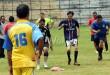 Sejumlah wartawan PWI Sumut menjalani latihan untuk cabang olahraga sepak bola menjelang Pekan Olahraga Wartawan Nasional (Porwanas) 2016, Medan, Sabtu (26/3). Porwanas tersebut dijadwalkan akan berlangsung di Bandung pada bulan Juli 2016 mendatang. (WOL Photo/Ega Ibra)