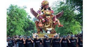 """Polres Denpasar Kerahkan 1.200 Personel Kawal Pawai """"Ogoh-Ogoh"""" (foto: ist)"""