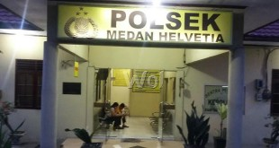 """Mantan TNI kasus ranmor """"gol"""" di Polsek Medan Helvetia.(WOL Photo/Gacok)"""