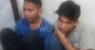 Dua ABG kasus curanmor diamankan di Polsek Medan Sunggal.(WOL. Photo/gacok)