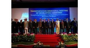 Menteri Perhubungan dan Transportasi dari berbagai negara berkembang di dunia berpose dalam pertemuan di Bali (Raiza Andini/Okezone)