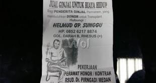 Brosur penjualan organ ginjal yang di bagi-bagi honorer RS Pirngadi Medan, Helmud Ompusunggu. (WOL Photo/Rizki)