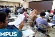 Ilustrasi: suasana ujian tulis SBMPTN. (Foto: dok. Okezone)
