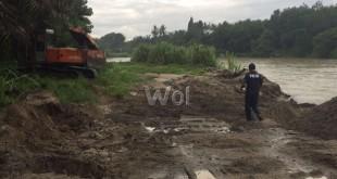 Lokasi penambangan Galian C yang digerebek di Dusun 2 Desa Pulau Gambar, Kecamatan Serba Jadi, Kabupaten Sergai.