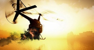 Ilustrasi Helikopter Jatuh (foto: Okezone)