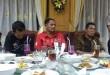 Kapolres Pelabuhan Belawan AKBP Tri Setyadi Antono, buka puasa dengan wartawan. (WOL. Photo/ gacok).