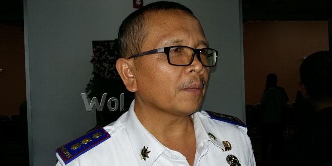 Kepala Dinas Perhubungan Kota Medan, Renward Parapat saat diwawancarai Waspada Online.(WOL Photo/muhammad rizki)