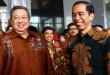 Ketum Partai Demokrat, SBY dan Presiden Jokowi (foto: Dok Okezone)