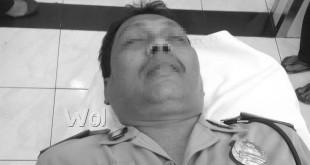 Aiptu Surung Simarmarta tewas akibat sesak jangtung.( WOL Photo/gacok)