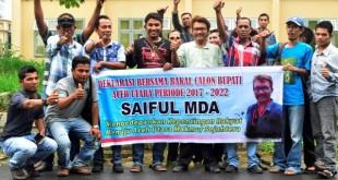 Deklarasi Bakal Calon Bupati Aceh Utara, Saiful MDA. (ISTIMEWA)