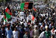 Aksi demonstrasi kaum minoritas Hazara di Kabul, Afghanistan (Foto: Omar Sobhani/REUTERS)