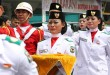 Ekspresi kesedihan ditunjukkan Tim Paskibra Siantar saat mengetahui Bendera Merah Putih gagal dinaikkan. (foto: hetanews.com)