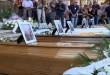 Upacara pemakaman pertama bagi korban gempa Italia. (Foto: NBC)