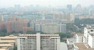 Pemandangan di Singapura yang berkabut akibat asap (Foto: Straits Times)