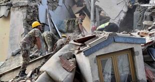 Dampak gempa bumi 6,2 SR di Italia tengah. (Foto: Emiliano Grilotti/Reuters)