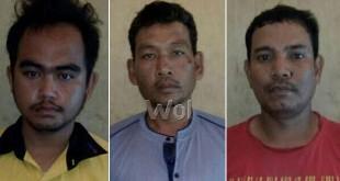 Tiga tersangka sindikat pencurian meteran listrik jenis token ditangkap petugas kepolisian.(WOL Photo/Gacok)