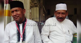 Pasangan Calon Bupati dan Wakil Bupati Aceh Utara Lewat Jalur Perseorangan (Independen), Sulaiman Ibrahim dan Razali. (WOL Photo/Chairul Sya'ban).