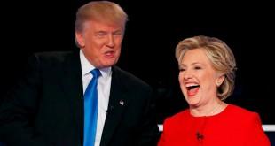 Kedua kandidat berjanji saling mendukung pemenang pemilihan presiden (Foto: Mike Segar/Reuters)