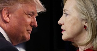Debat Capres AS 2016, Donald Trump vs Hillary Clinton. (Foto: Scott Olson/Saul Loeb/Getty Images)