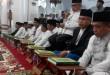 Pasangan cagub dan cawagub Aceh saat mengikuti uji baca Alquran di Masjid Raya Baiturrahman, Banda Aceh (Rayful/Okezone)