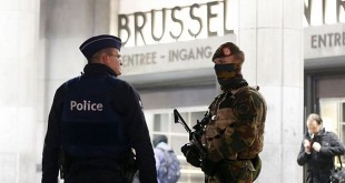 Kepolisian Brussels, Belgia (Foto: The Guardian)