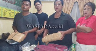 Para tersangka membawa ganja ke LP Kelas I Tanjung Gusta Medan diamankan. (WOL. Photo/gacok)