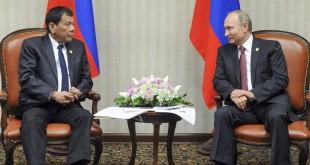 Presiden Duterte dan Putin. (Foto: AP)