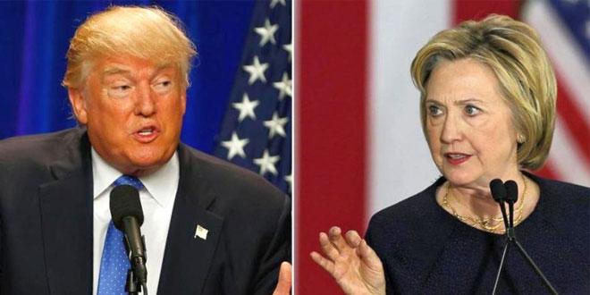 apres AS dari Partai Republik Donald Trump dan Capres AS dari Partai Demokrat Hillary Clinton. (Foto: AP)
