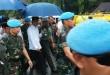 Presiden Jokowi dalam perjalanan ke Monas (Bayu Septianto/Okezone)