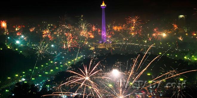 Ilustrasi. Pesta Tahun Baru di Indonesia. (Foto: Kabari News)