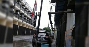 Bendera ISIS di Pejagalan, Jakarta Utara. Foto Taufik Fajar/Okezone