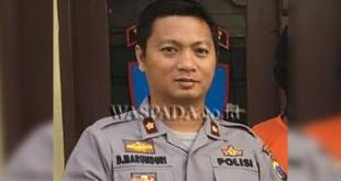Kapolsek Medan Sunggal, Kompol Daniel Marunduri, ultimatum pelaku begal yang korbannya tewas di Stasiun Pinang Baris Medan. (WOL Photo/Gacok)
