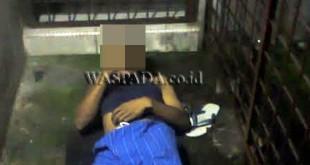 Ibnu Hazar alias Danu (33) tewas tersengat listrik di bekang rumahnya, Minggu (15/1). (WOL Photo/Gacok)