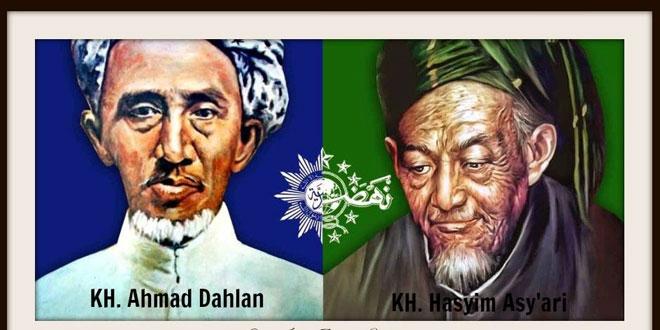 KH Ahmad Dahlan (kiri) & KH Hasyim Asy'ari