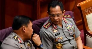 Kapolri Tito di DPR (Foto: Antara)